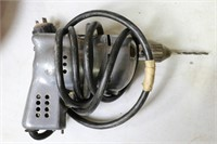 LOT OF POWER DRILLS AND BITS, WITH FRY PAN