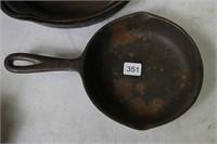 LOT OF FOUR CAST FRYING PANS