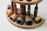 PIPE STAND WITH SIX PIPES