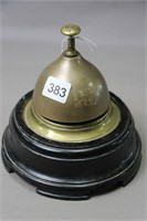 DESK TOP BELL MOUNTED ON WOOD