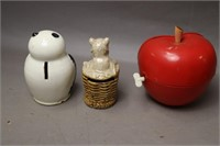 LOT OF 15 COIN BANKS