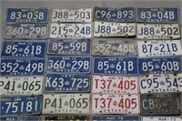 LOT OF ONTARIO LICENCE PLATES 1970'S -80'S