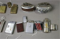 LOT OF 13 ANTIQUE POCKET AND TABLE LIGHTERS