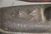 NK NO. 4 IRON WITH WOODEN CLAP HANDLE