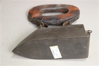 OXTONGUE IRON WITH WOODEN HANDLE