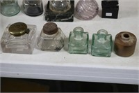 LOT OF GLASS INK WELLS