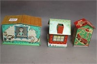 LOT OF 5 COIN BANKS