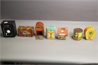 LOT OF 7 COIN BANKS