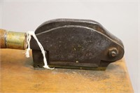 ANTIQUE CUTTER ON WOODEN BASE 11X7