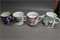LOT OF 10 MUSTACHE CUPS
