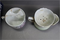 LOT OF 8 MUSTACHE CUPS