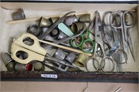 LOT OF MEDICAL TOOLS AND SEWING ITEMS