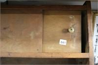 WOODEN HANGING WALL SHELF 22X7X14