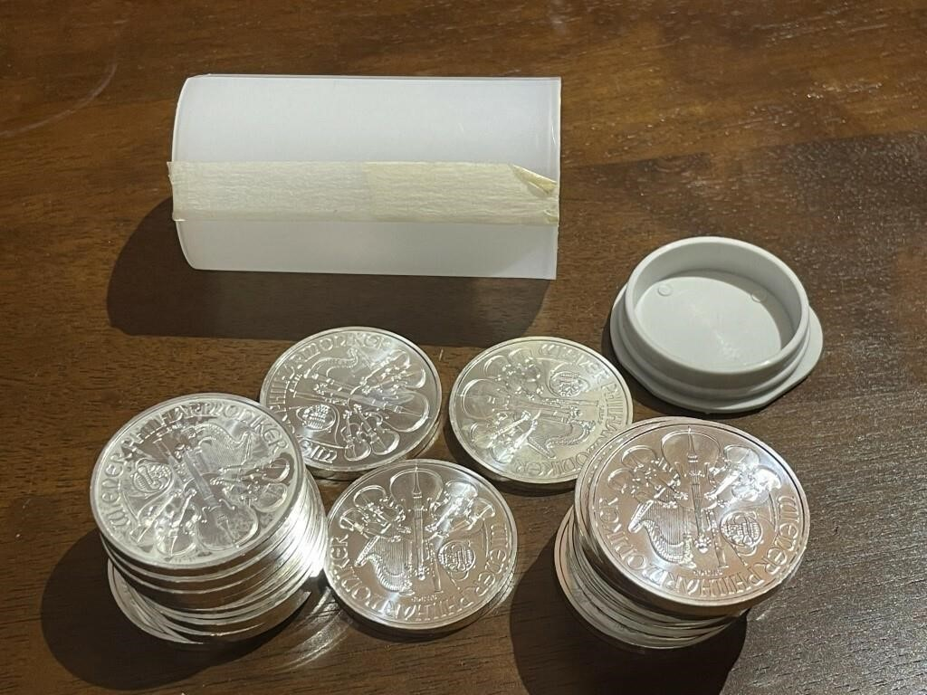 20 1 oz Silver Rounds - 2015