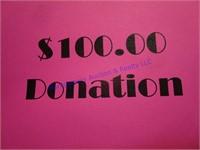 $100 CASH DONATION