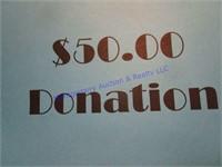 $50 CASH DONATION