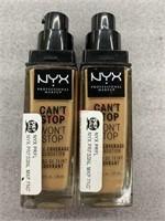 2 NYX classic tan foundation