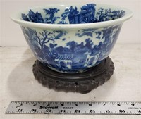 Asian style bowl & stand