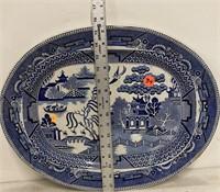 Willow blue platter