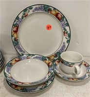 Intro stoneware china service for 8