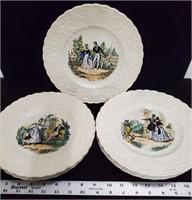 """8 plates """"Adams China"""""""