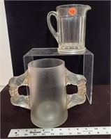 Pitcher & double handled mug