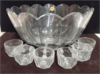 Heisey Punch bowl & 6 glasses