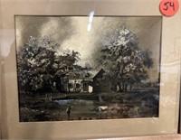 2 prints etched on brass foil
