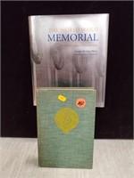 """""""WWII Memorial Book"""" & """"Leatherbacks"""" book"""