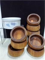 Dansk wooden bowls & Dansk casserole dish