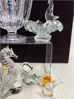 Art glass, crystal, & lot