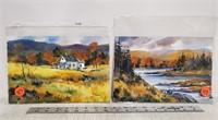 Pair of original landscape watercolors