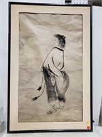 Asian figure, ink stick?