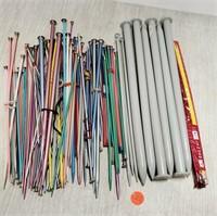 Assorted knitting needles