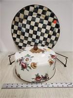 Mackenzie-Childs LTD. enamle cake carrier