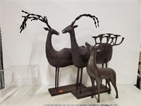 3 metal animal figures