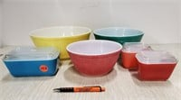 Pyrex bowls & storage containers