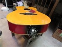 Vintage Acoustic Guitar Japan Wood