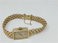 14k Gold Ladies Dress Rolex Wrist Watch
