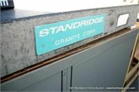 """STANDRIDGE GRANITE CORP. SURFACE PLATE - 4"""" X 24"""""""