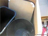 BOX: WASTEBASKETS, CORKBOARD