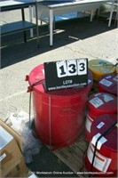 JUSTRITE OILY WASTE CAN - RED