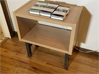 Light Colored Composite Side Table