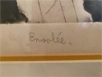 """Orig Block Myer """"Enovlee"""" Signed Print, 25/75"""