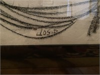 Joseph Delaney Original Charcoal on Paper