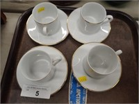 (4) Tiffany & Co. Cup and Saucers
