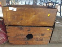 (2) Vintage Wooden Shipping Boxes