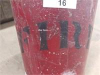 Primitive Galvanized Fire Bucket