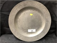 Unsigned 18th Century Pewter Charger