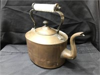 Primitive 19th Century Copper Teapot